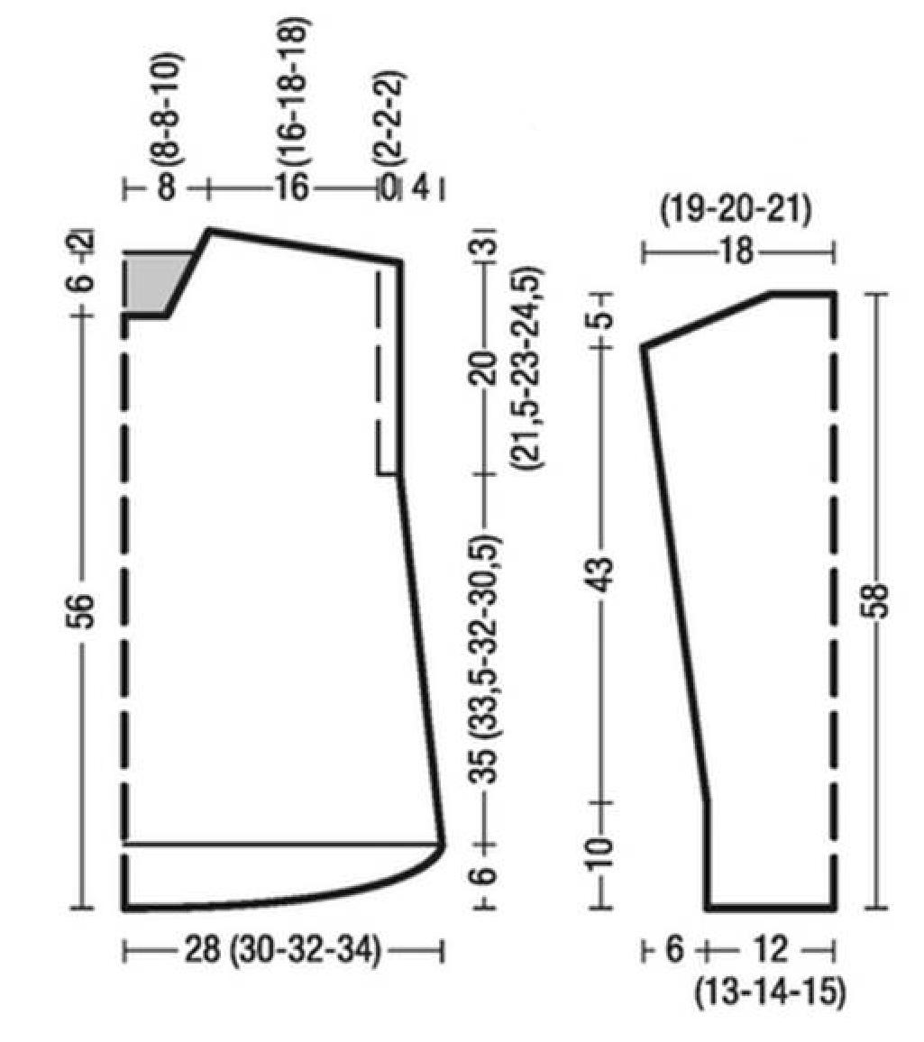 Пуловер спицами в стиле оверсайз схема вязания с подробным описанием бесплатно для женщин