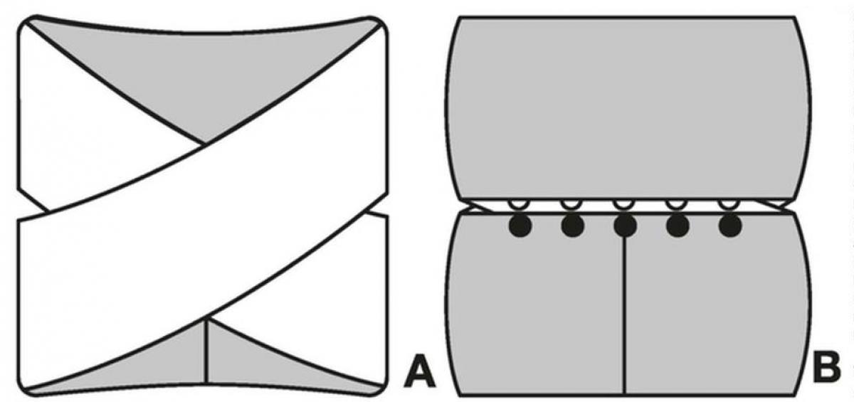 схема вязания и выкройка для снуда спицами с узором из кос