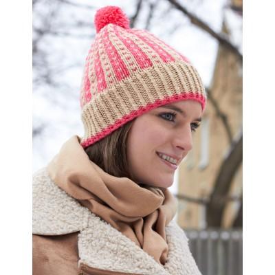 схема вязания зимней шапки спицами с подробным описанием и схемой