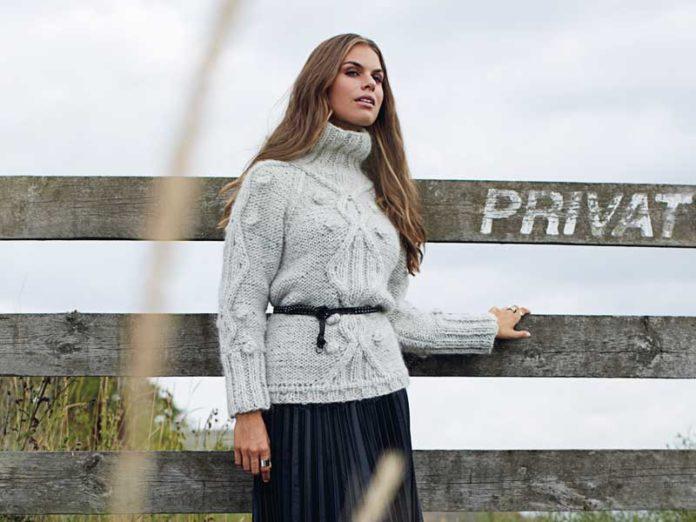 Теплый пуловер на крупных спицами схема вязания спицами для женщин с подробным описанием бесплатно