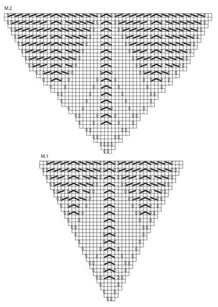Ассиметричный жакет спицами с ажурной спинкой схема вязания спицами