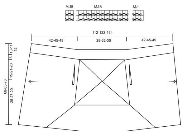 Ассиметричный жакет спицами с ажурной спинкой выкройка и схема вязания спицами