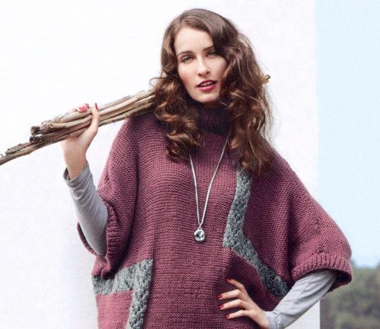 Платье кокон спицами с широким рукавом схема вязания платья спицами