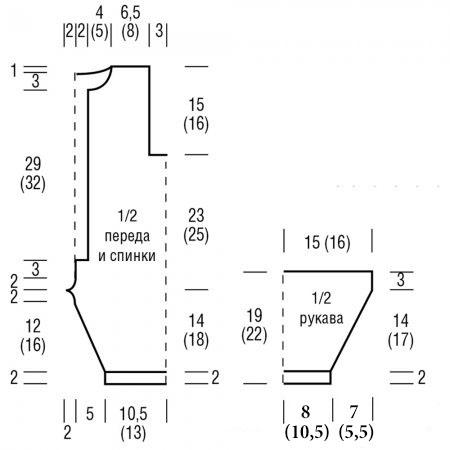 Детский комбинезон крючком размеры 62-86 выкройка