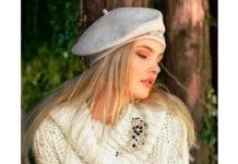 Вязаное платье спицами с объёмным воротником схема вязания спицами с подробным описанием