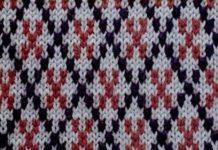 Жаккардовый узор спицами №4 схема вязания
