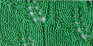 Схема ажурный узор весенние листья