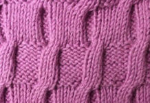 Схема вязания узора косы №2