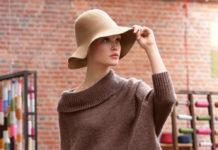 Пуловер спицами в стиле с оверсайз с большим воротником