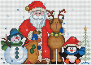 Картина Новый год вышивка крестом