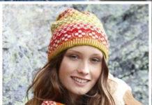 Шапочка и шарф спицами жаккардовым узором схема вязания с подробным описанием бесплатно
