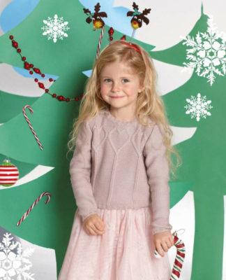 Пуловер для девочки спицами нежно розового цвета схема вязания с подробным описанием