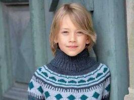 Свитер для мальчика спицами с круглой кокеткой схема вязания с подробным описанием