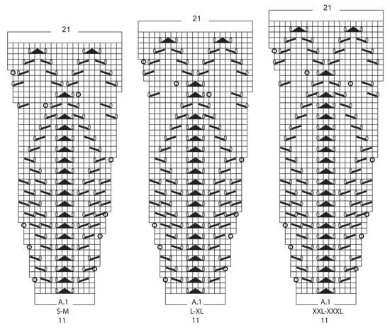 Платье спицами с круглой ажурной кокеткой схема вязания