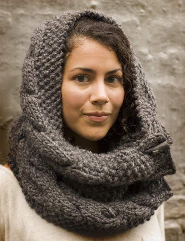 Шарф-хомут спицами с объемными косами схема вязания с подробным описанием для женщин бесплтано