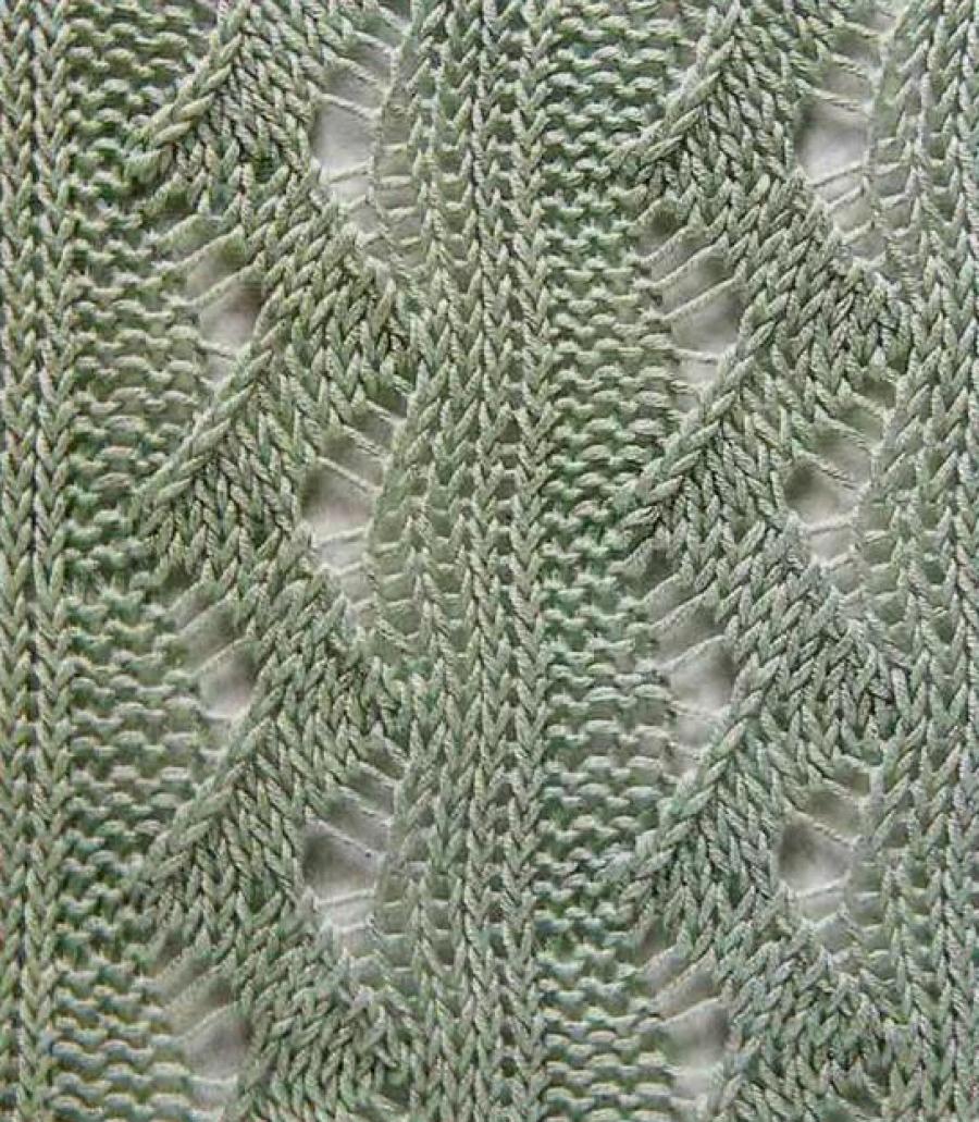 ажурные узоры для вязания спицами вертикальные