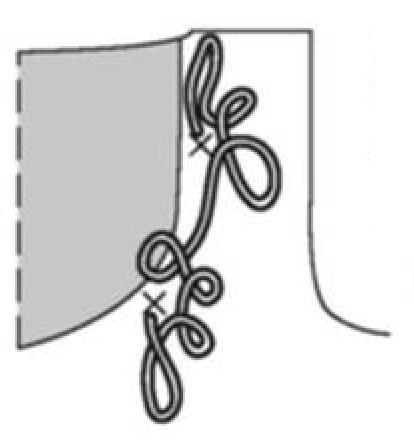 Нежное болеро спицами, украшенное розами схема украшения розами