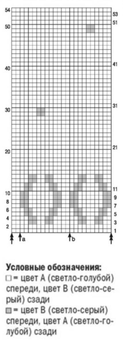Двусторонний жилет спицами в классическом стиле схема вязания и условные обозначения