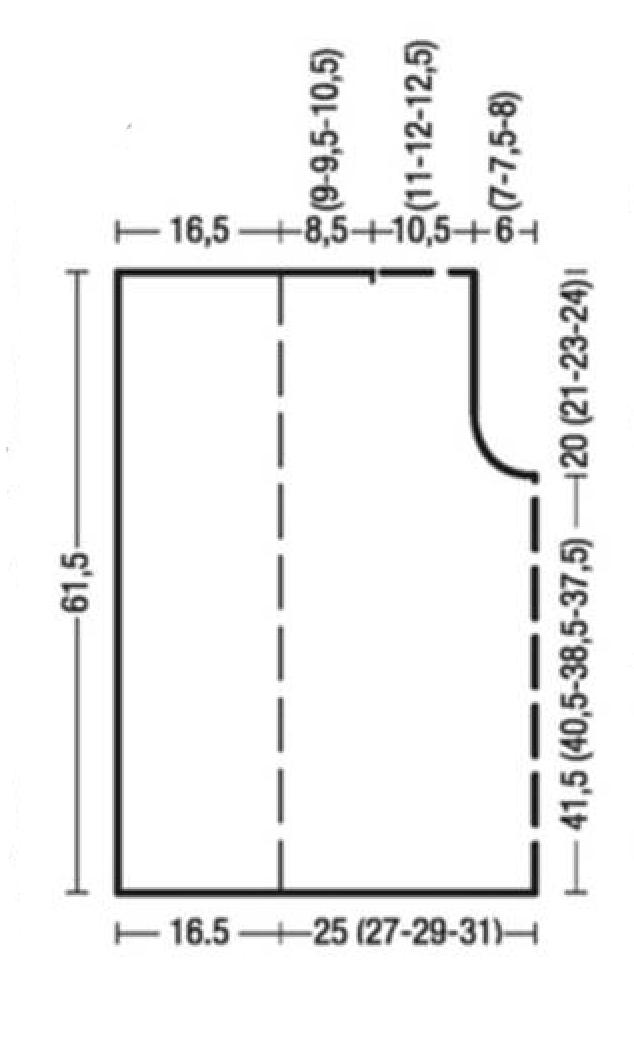 Двусторонний жилет спицами в классическом стиле выкройка