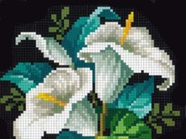 """Вышивка крестом цветы схема """"Лилии"""""""