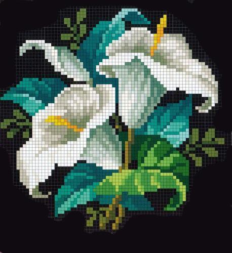 Вышивка крестом цветы схема