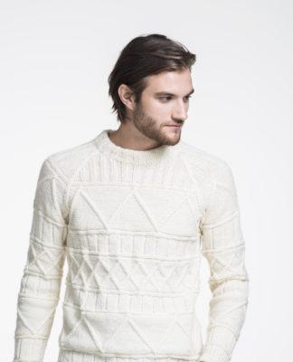 Мужской пуловер спицами со структурным узором схема вязания с подробным описанием