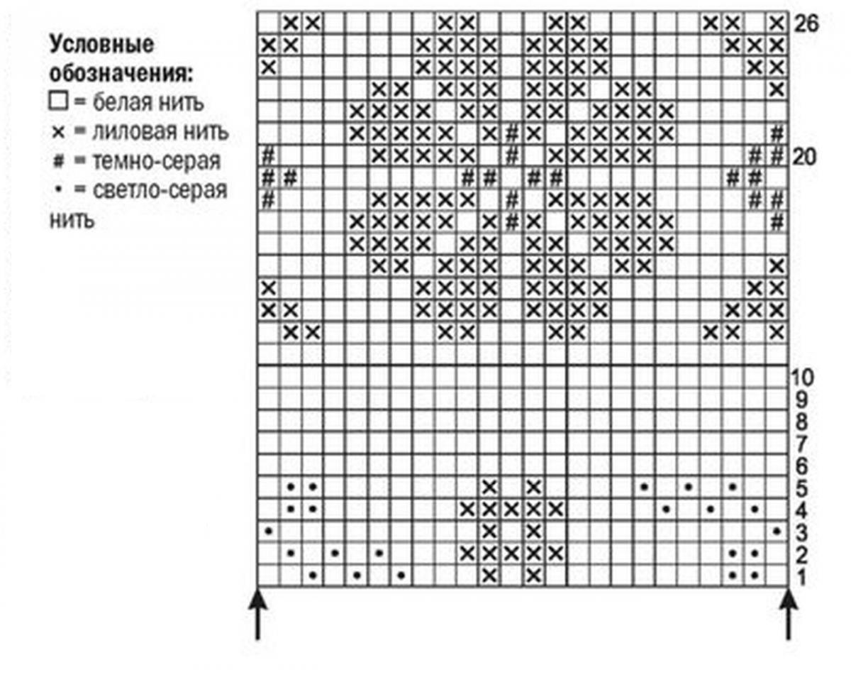 Митенки спицами схема вязания с подробным описанием
