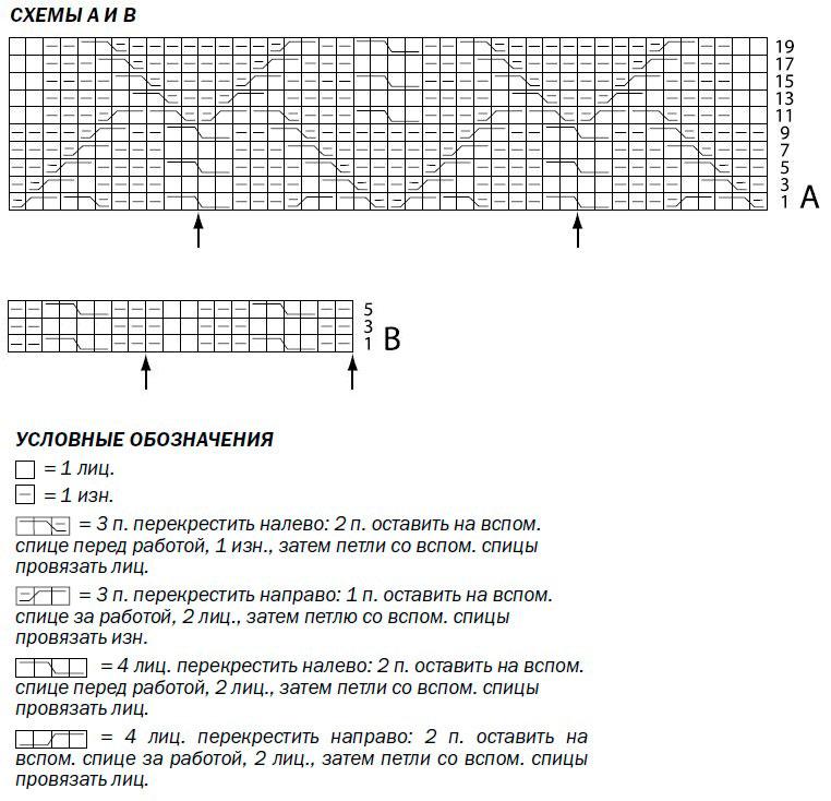 Теплая кофта с баской спицами рельефным узором схема вязания и условные обозначения