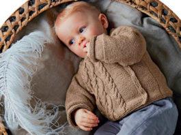 Детский жакет спицами от 1 до 12 месяцев схема вязания спицами с подробным описанием