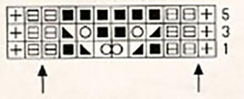 Схема ажурного узора спицами 5