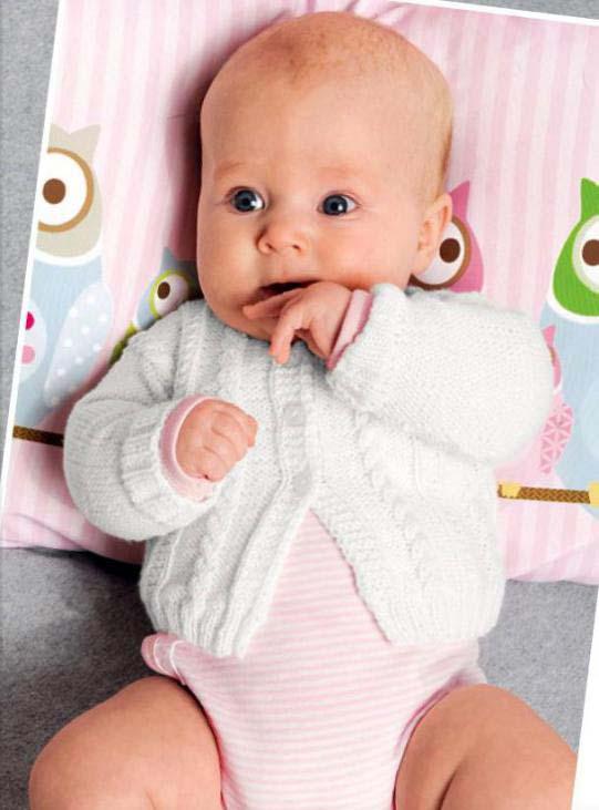 Нежный комплект для новорожденного спицами