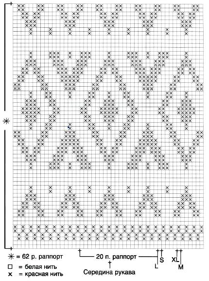 Удлиненный свитер спицами в жаккардовой технике схема вязания спицами жаккардового узора
