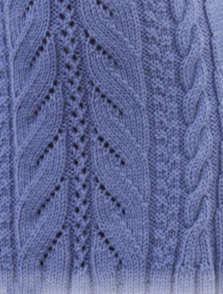 Женственное платье с ажурным и рельефным узором схема ажурно-рельефного узора
