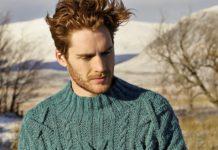 Мужской пуловер спицами с узором из кос схема вязания спицами с подробным описанием