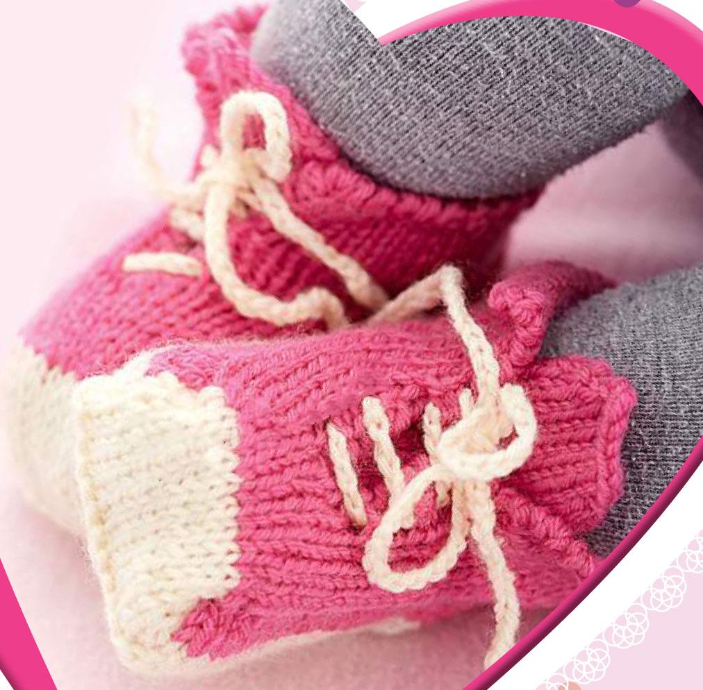 вязание пинеток для детей от 0 до 1 года с описанием спицами