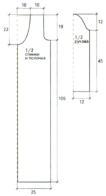 Удлиненный кардиган крючком из ажурных мотивов выкройка