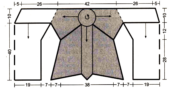 Топ спицами с ажурным цветком на спине схема вязания спицами с подробным описанием