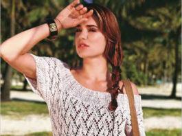 Ажурный пуловер спицами с широкой горловиной на лето схема вязания спицами с подробным описанием для женщин бесплатно
