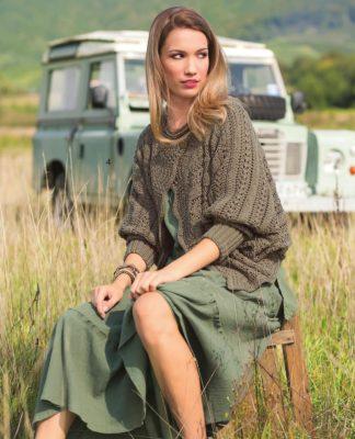 Ажурный жакет спицами с широким рукавом схема вязания спицами с подробным описанием для женщин бесплатно