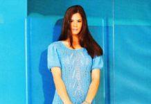 Голубое платье спицами с ажурным узором схема вязания спицами для женщин с подробным описанием