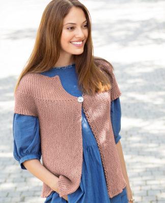 Жилет платочной вязкой, связанный поперек схема вязания с подробным описанием для женщин бесплатно