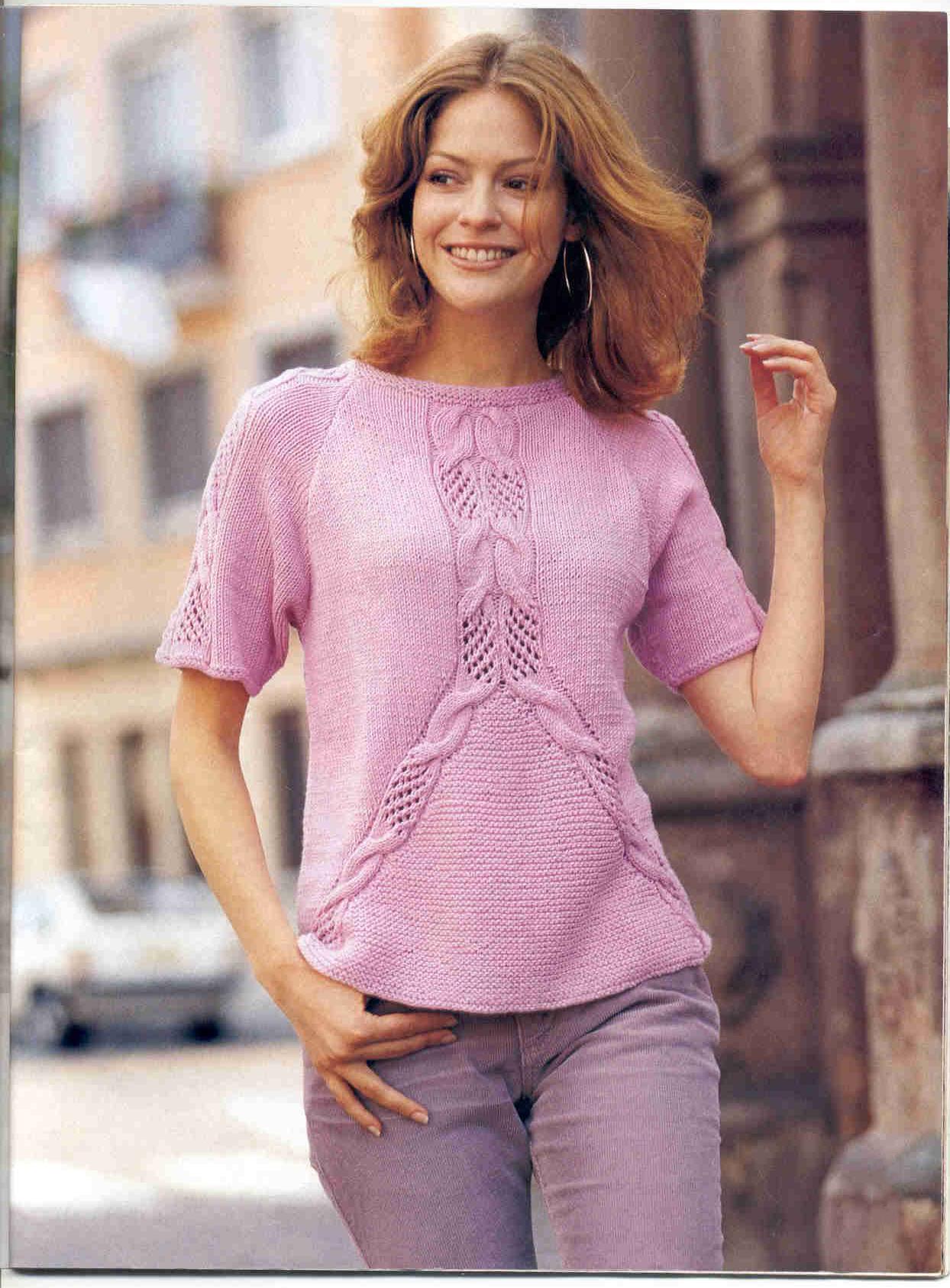 вязание спицами летнего пуловера схемы модели
