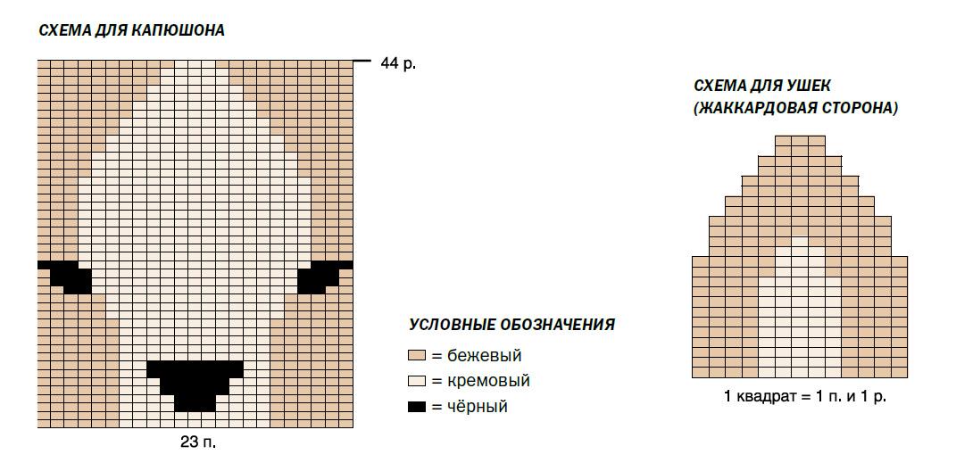 Накидка-пончо спицами для малыша схема вязания для капюшона