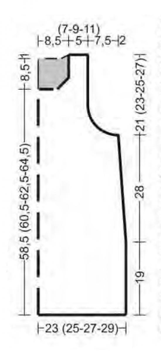 Удлиненная безрукавка спицами из розовой пряжи выкройка