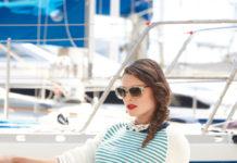 Пуловер спицами Морской стиль в тонкую полоску схема вязания спицами с подробным описанием для женщин