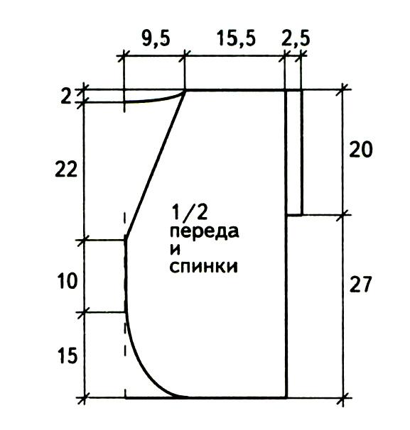 Полосатый топ спицами с открытой спинкой схема вязания с подробным описанием и выкройка