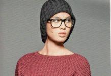Укороченный пуловер спицами террактового цвета схема вязания спицами с подробным описанием