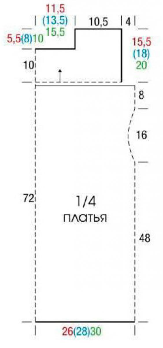 Кружевное платье из мотивов крючком выкройка
