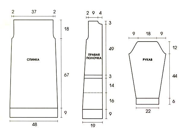 Бежевое пальто спицами с узором из Кос на рукавах выкройка схема вязания с подробным описанием