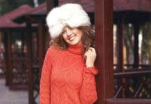 Теплое вязаное платье спицами с узором Араны и Косы схема вязания спицами с подробным описанием для женщин бесплатно